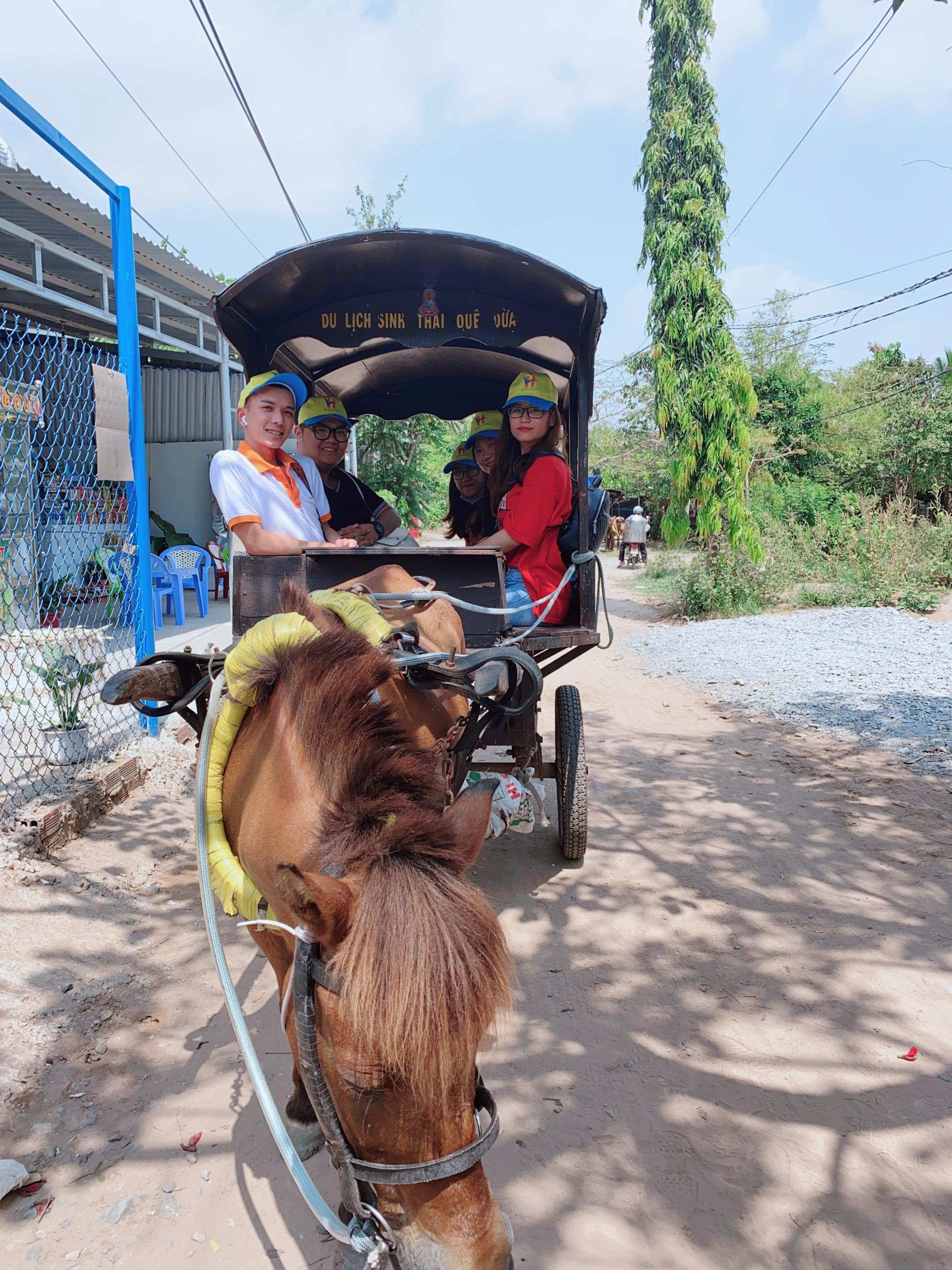 Đi dạo xe ngựa trong làng