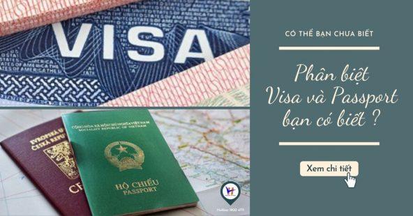 Visa và Hộ chiếu có khác nhau không?