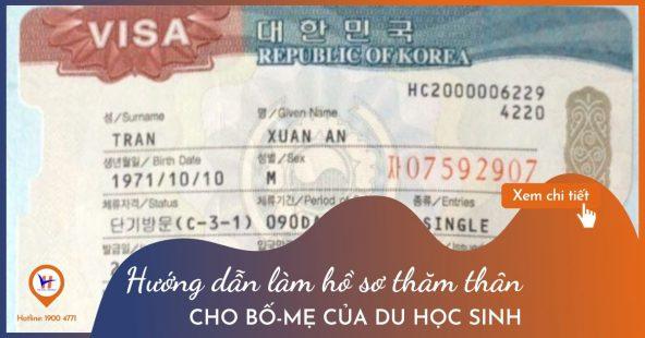 Hướng dẫn làm hồ sơ xin visa thăm thân Hàn Quốc